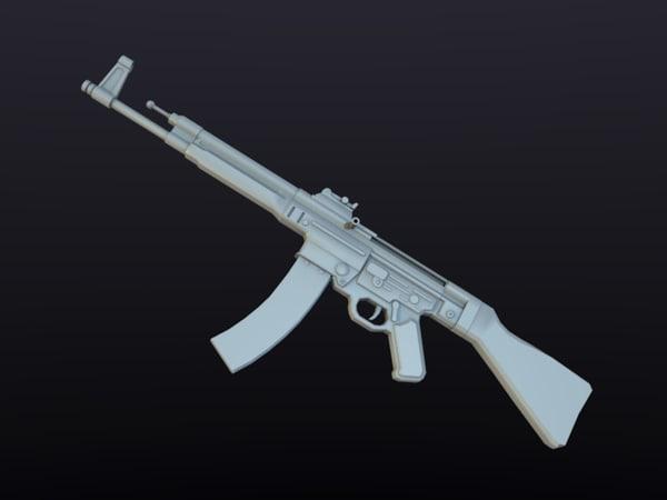 3d model sturmgewehr 44