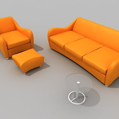 balzac sofa 3d model
