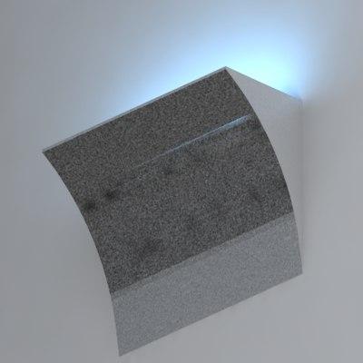 3d model wall lamp light