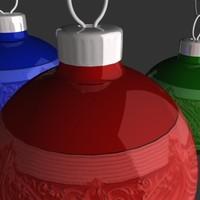 christmas ornament glass 3d model