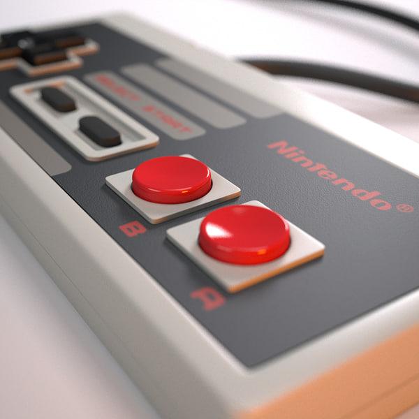 3d nintendo controller model