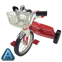 classic tricycle 3d model