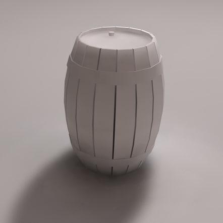 barrel 3d obj