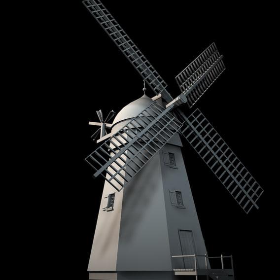 3d windmill wind