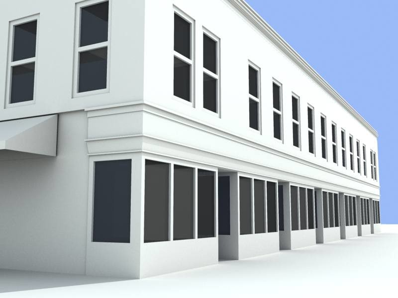 commercial building 3d model