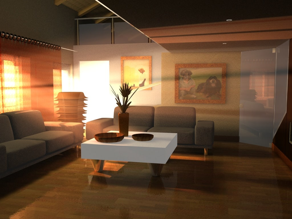 3d home room dining model