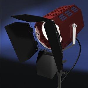 fresnel spot light stand 3d model