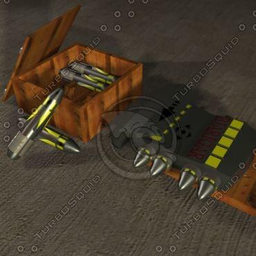 missile launcher bjarigar battery 3d model