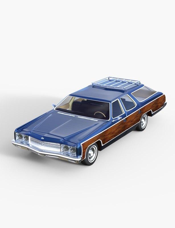 1973 caprice wagon 3d model