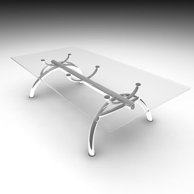 3dsmax table modern