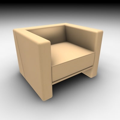 chair modern style 3d c4d