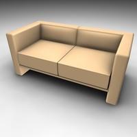modern style sofa 3d c4d