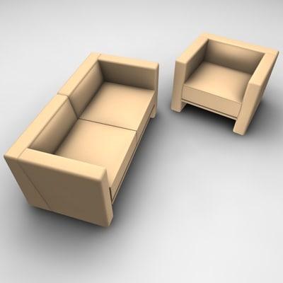 sofa chair modern 3d c4d