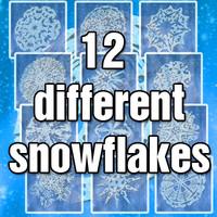 3d set snowflakes