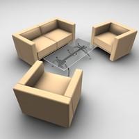 table chair sofa 3d model