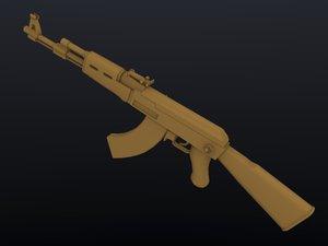 free avtomat kalashnikov ak-47 3d model