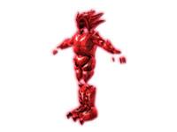 dark evil armor 3d model