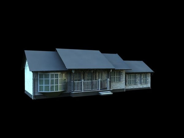 3ds max ranch style house