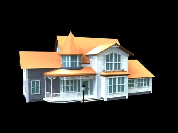 3d model victorian style house