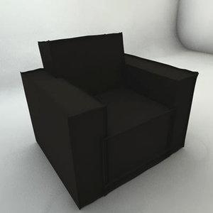 descourbes nicolas armchair c4d