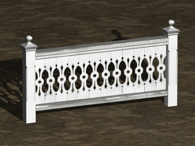 3d victorian fence