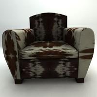 3d model milan armchair