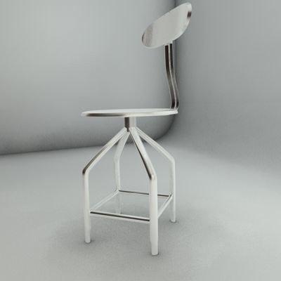 3d model iron stool
