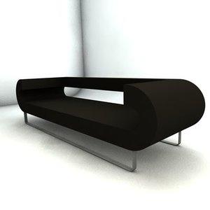 pillet sofa 3d c4d