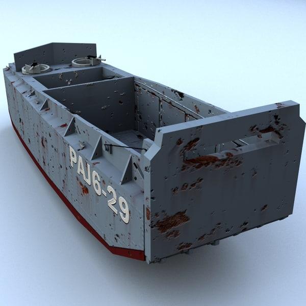 lcvp landing craft -- 3d model