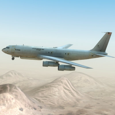 3d max e-8 jstars aircraft radar