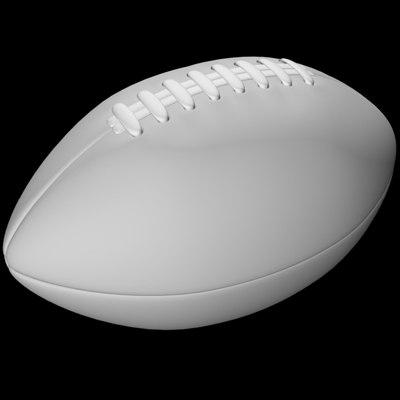 football lace 3d model