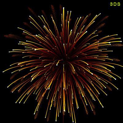 fireworks 3d model