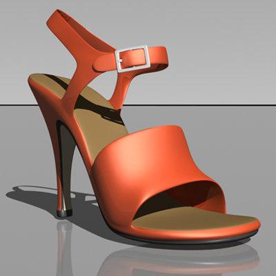heel shoe 3d model
