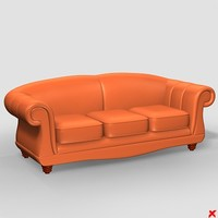 3d max sofa loveseat