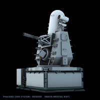 phalanx ciws defense 3d model