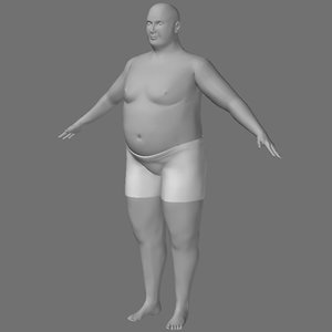 3d model male overweight