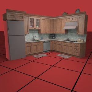 3d kitchen set02