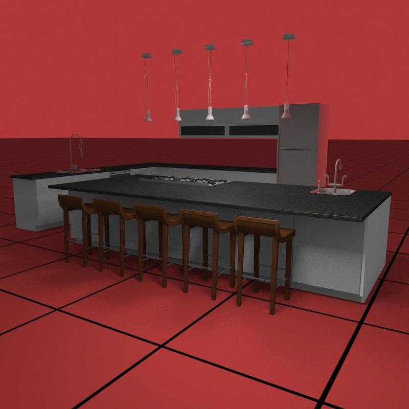 kitchen set01 light fixtures dwg