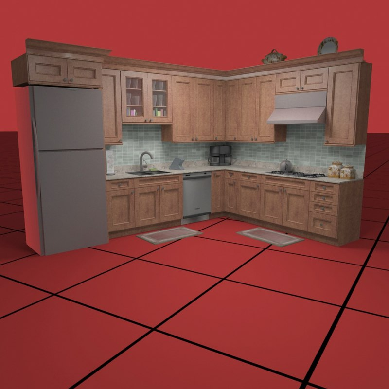 kitchen set02 accessories dwg