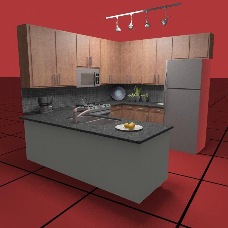kitchen set03 3d max