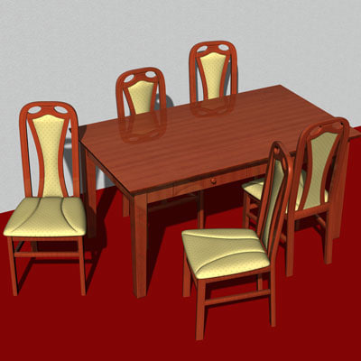 chair table c4d