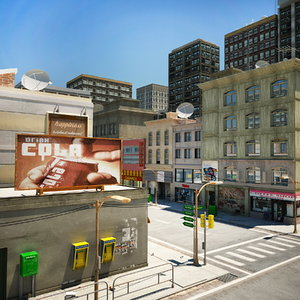 scene building street 3d model