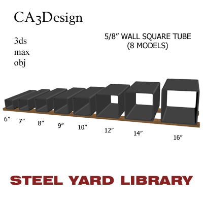 3d 5 wall square tube