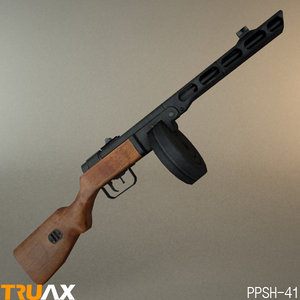 3d model of russian ppsh-41