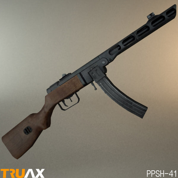 russian ppsh-41 stick 3d max