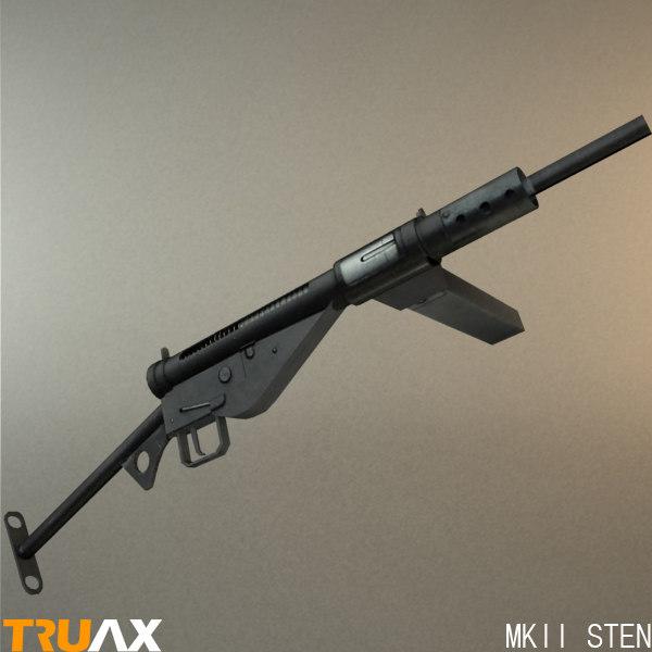 british mkii sten 3d model