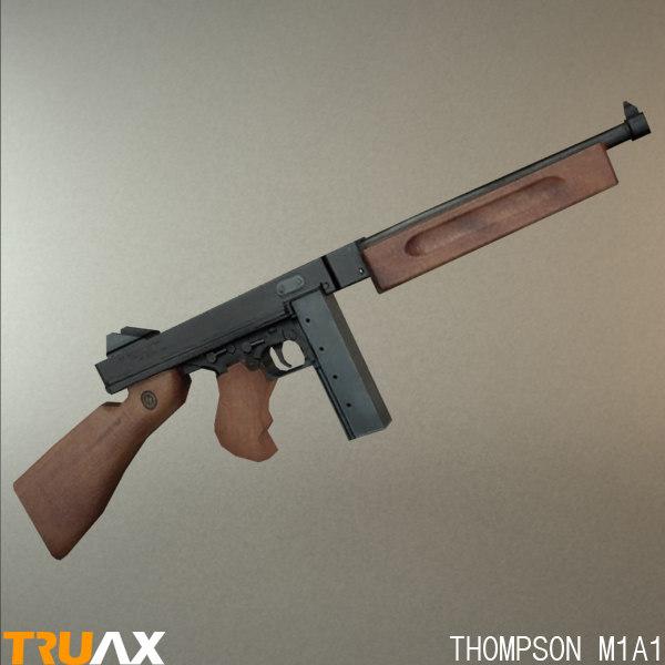 3d model of american m1a1 thompson