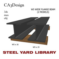 3d model w5 wide flange beam