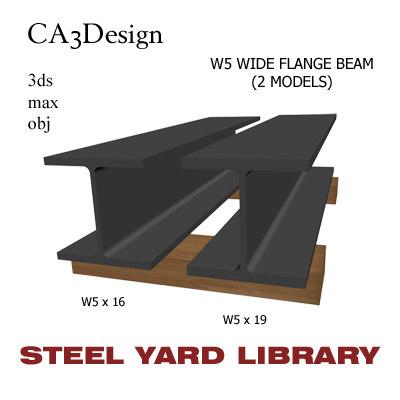 3d model w5 wide flange beam