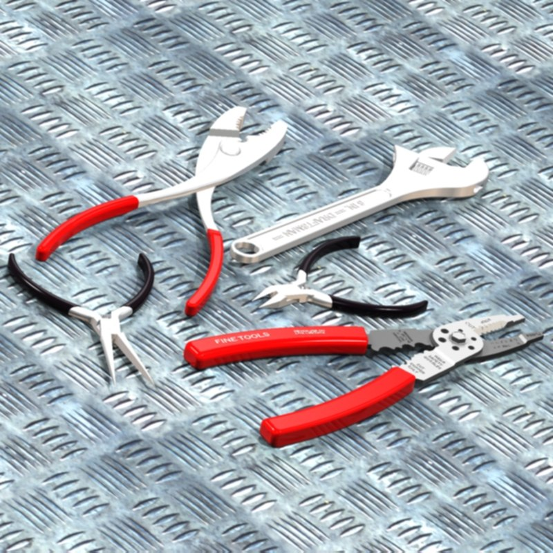 3d basic tools crescent wrench